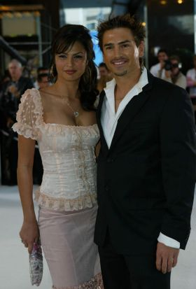 Gabielle Richens and Justin Melby  from <i>Days of our Lives</i> attending the 2005 Logies.