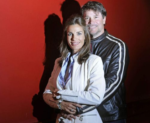 Actors Peter Reckell and Kristian Alfonso, also known as Bo and Hope Brady from <i>Days of Our Lives</i>, for the 2009 ...