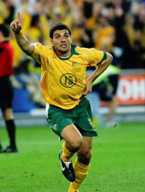 John Aloisi celebrates his winning penalty that put Australia in their first World Cup since 1974.