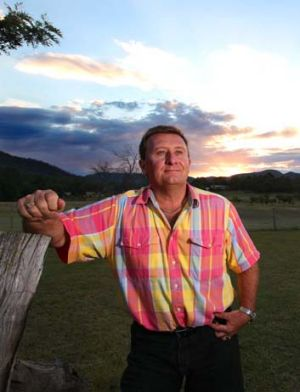Over the moon: Paul Burgess says the court ruling against the mine is a huge relief for the town.