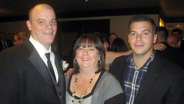 Paul and JP Norden with their mother, Liz Norden. Both brothers lost a leg in the Boston Marathon bombings.