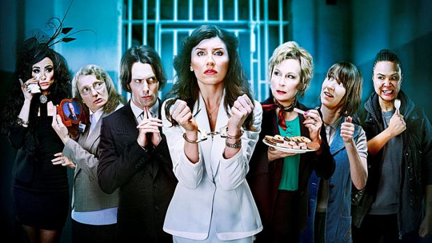 The cast of <i>Dead Boss</i>, a BBC comedy which could screen on the new channel.
