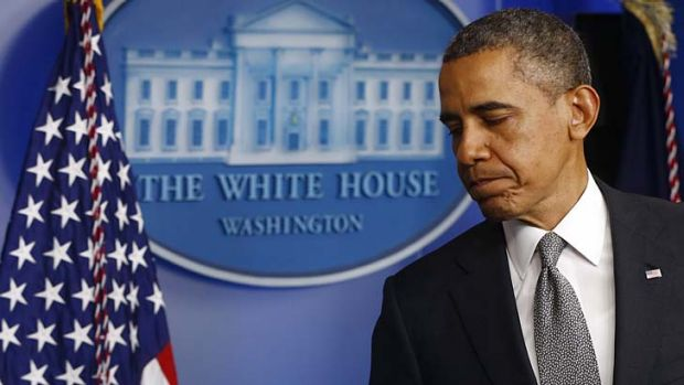 Targeted: A 'suspicious substance' was found in a letter addressed to Barack Obama.