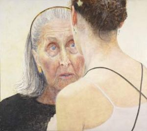 Intensity: <em>Jenny Sages' Irina Baronova (handing on the baton)</em>, a portrait of the elderly ballerina.