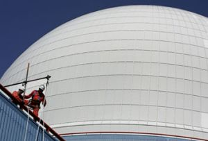 The dome of the nuclear reactor of Sizewell plant in eastern England.