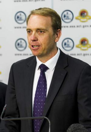 Emergency Services Minister Simon Corbell.
