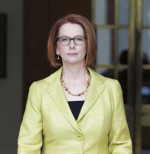 Continuing to press: Julia Gillard.