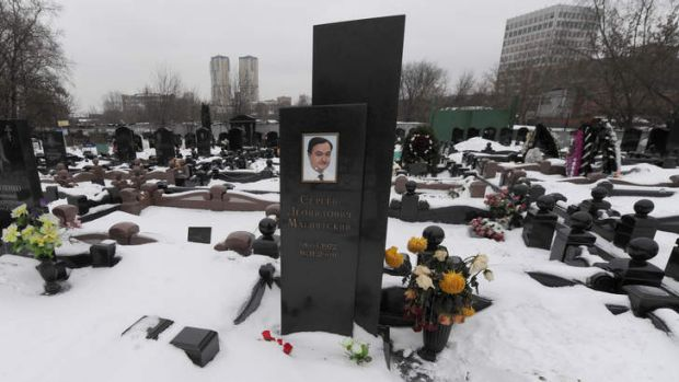 Sergei Magnitsky's grave: Mr Browder had campaigned for justice for  Magnitsky, who died in prison.