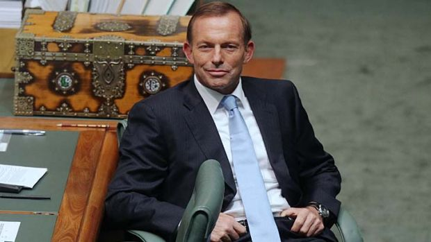 """The government won't tell us what the deficit will be"": Opposition Leader Tony Abbott."