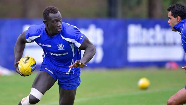 It's showtime: After three years of development, Sudanese-born Majak Daw is ready for AFL.