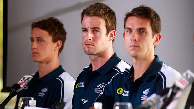 Fined ... Cameron McEvoy, James Magnussen and Eamon Sullivan.