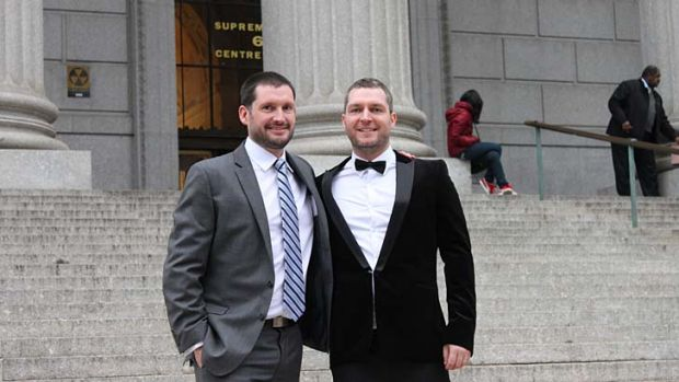 ''New Zealand chose love despite the trouble. It chose equality and respect for all its people'': Tim Dick, left, who ...