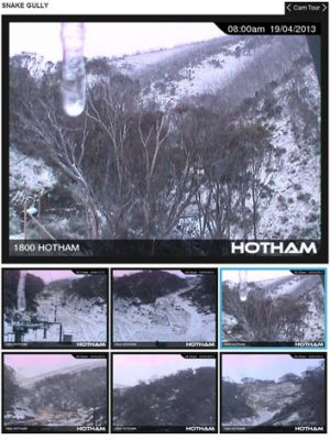Snow cams at Mount Hotham, Victoria