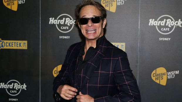 Centre stage ... David Lee Roth of Van Halen poses during the 2013 Stone Music Festival press conference.