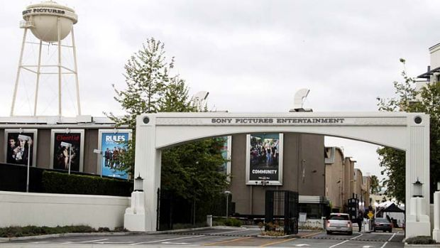 An entrance gate to Sony Pictures Entertainment at the Sony Pictures lot is pictured in Culver City, California.