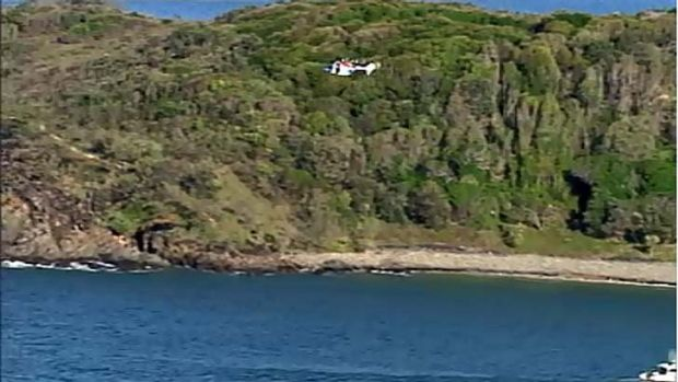A large search is under way for person feared missing in the ocean at Noosa.