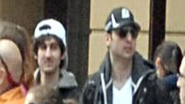 On the run ... the Boston Marathon bombing suspects reportedly planned a New York attack.