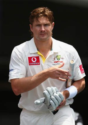 Not for me: Shane Watson has stood down as Australian vice-captain.