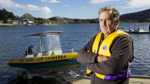 Hamish Balfour, chief instructor of the YMCA of Canberra Sailing Club at Yarralumla Bay.