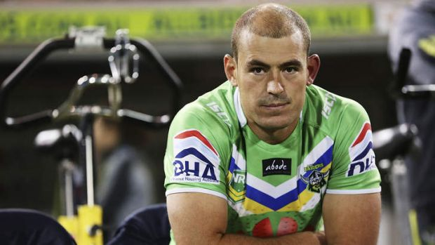 Terry Campese just before his return to the NRL off the bench on April 13.