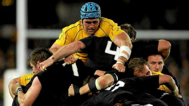 Man mountain: Wallabies captain James Horwill has been inspiring in camp, but can he lift the side enough to get one ...