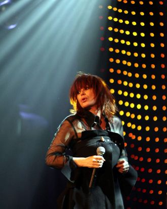 Chrissy Amphlett performs at the Regent Ballroom in Melbourne.