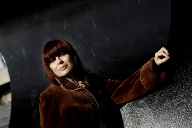 Chrissy Amphlett in Melbourne to perform in 'The Boy From Oz'.