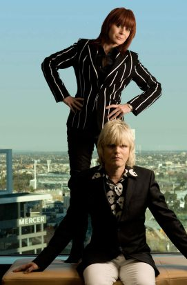 Chrissy Amphlett and Mark McEntee of the Divinyls in Melbourne.