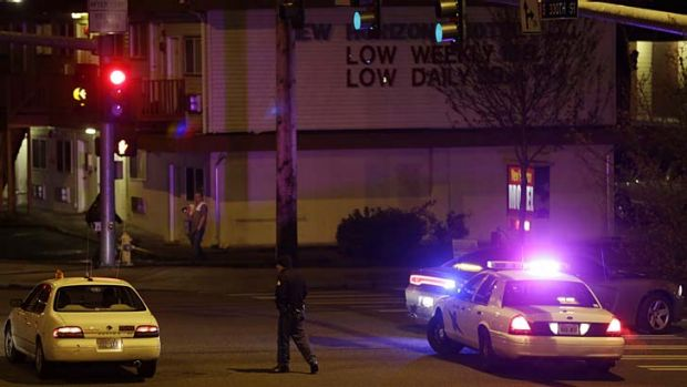 Shooting: Police investigate the cause of a gunfight that left five dead.