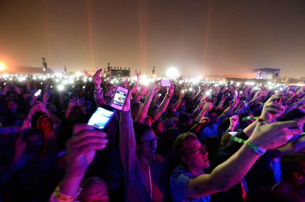 Music fans attend day 3 of the 2013 Coachella Valley Music & Arts Festival at the Empire Polo Club on April 14, 2013 in ...