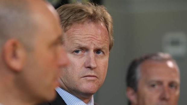 Keeping in touch: NRL heavyweights Dave Smith and Todd Greenberg.