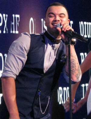 Singer Guy Sebastian performs at the S4 launch