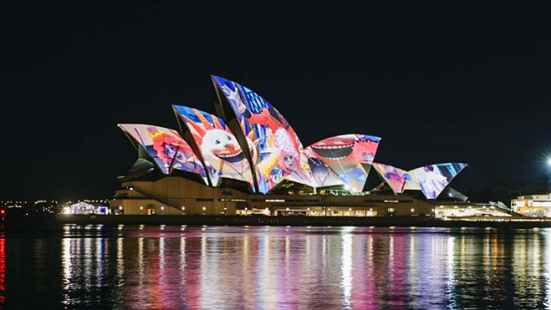 Images sent in by ordinary Australians were shown on the sails of the Sydney Opera House.