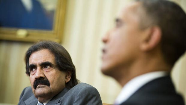 'Horrific tragedy': The turmoil in Syria dominated talks at the White House between President Obama and the emir of ...
