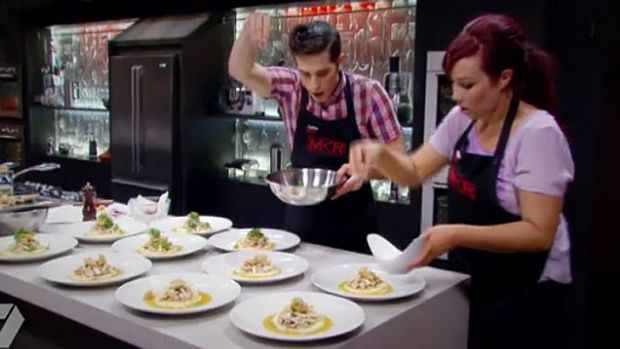 Jake and Elle battle for an MBE title in <i>MKR</i>'s semi-finals against Mick and Matt.