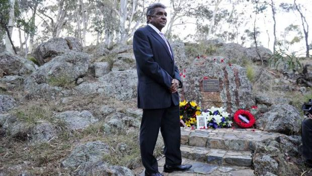 John Lovett at the ANZAC Day Aboriginal and Torres Strait Islander Commemoration Ceremony.