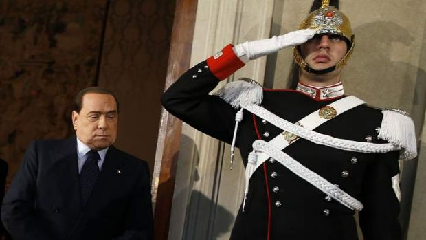 Out of the shadows: Silvio Berlusconi sees the prospect of yet another comeback in Italy's political turmoil.