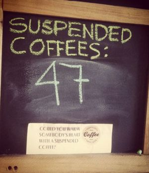 Mugshot's suspended coffees count is climbing.