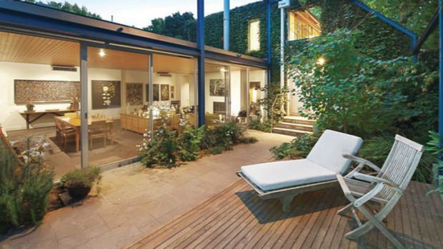 Comfortable... the South Yarra house was built in the 1970s.