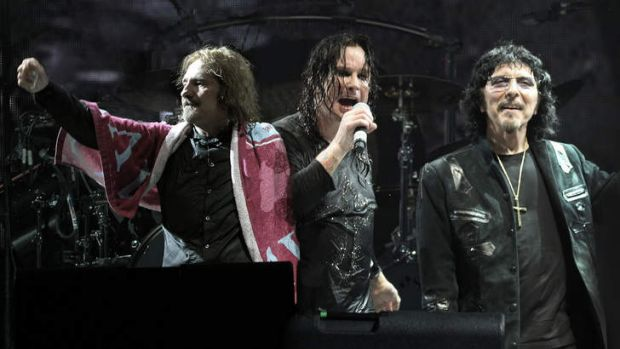 Observing the sabbath: Geezer Butler, Ozzy Osbourne and Tommy Iommi are back together again on stage.