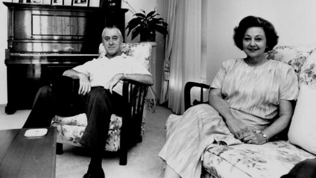 Disgraced former Queensland police commissioner Terry Lewis with wife Hazel in 1988.
