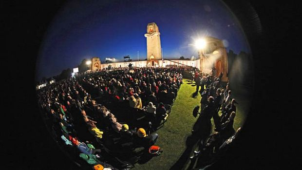 More than 400 attended this year's dawn service at Villers-Bretonneux.