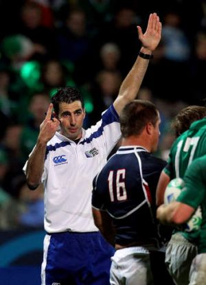 South African referee Craig Joubert.
