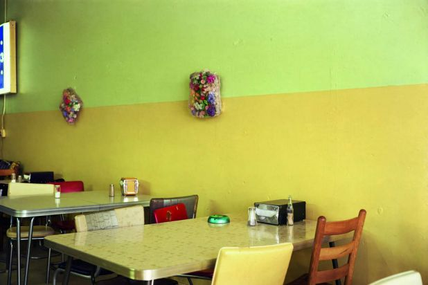 Outstanding Contribution to Photography. Untitled. 1976 fr. Election Eve - yellow cafe.