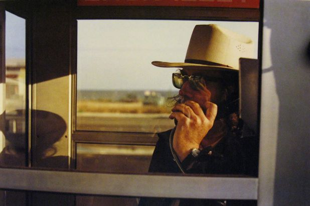 Outstanding Contribution to Photography. Los Alamos Portfolio-California, 1974_Walter Hopps in phone booth.