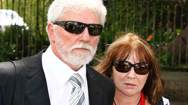 Ronald and Jane Sakovitz leaving court earlier this year.