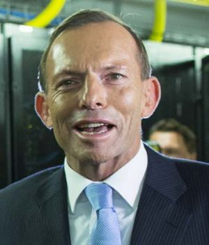 Leaders marching out of step: Tony Abbott.