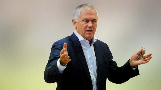 Demanding change: Malcolm Turnbull called for the resignation of the NBN board last week.