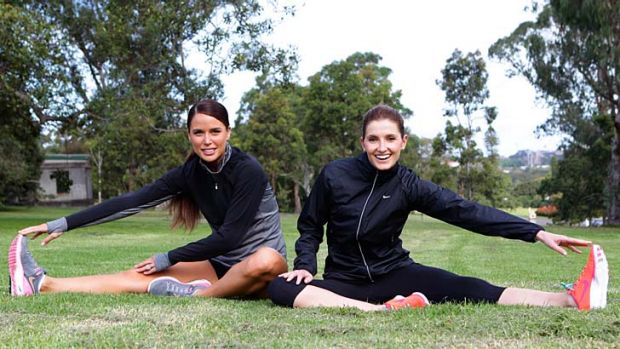 Toe-to-toe: Jodi Anasta and Kate Waterhouse in Centennial Park.