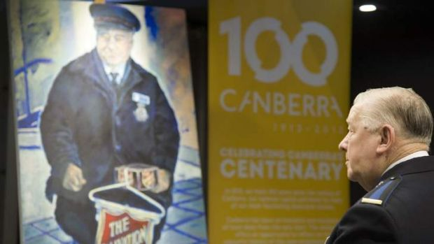 Picture this ... The Salvation Army's Alan Jessop, a subject in Barbara Van Der Linden?s <i>Faces of Canberra</i>.